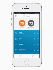 De Lyric app op een iPhone 5s
